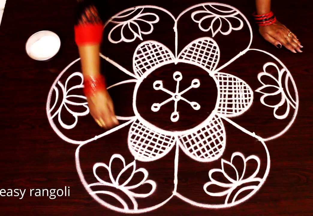 Point Rangoli Design