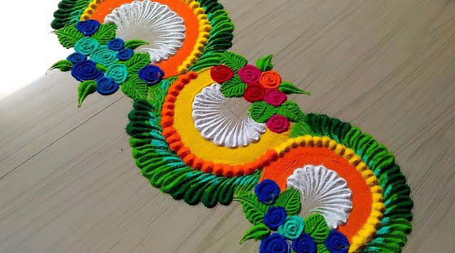 Rangoli Design for Entrance Door