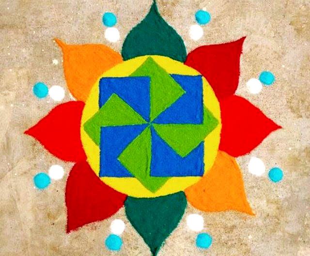 Rangoli Design with Dots Pattern
