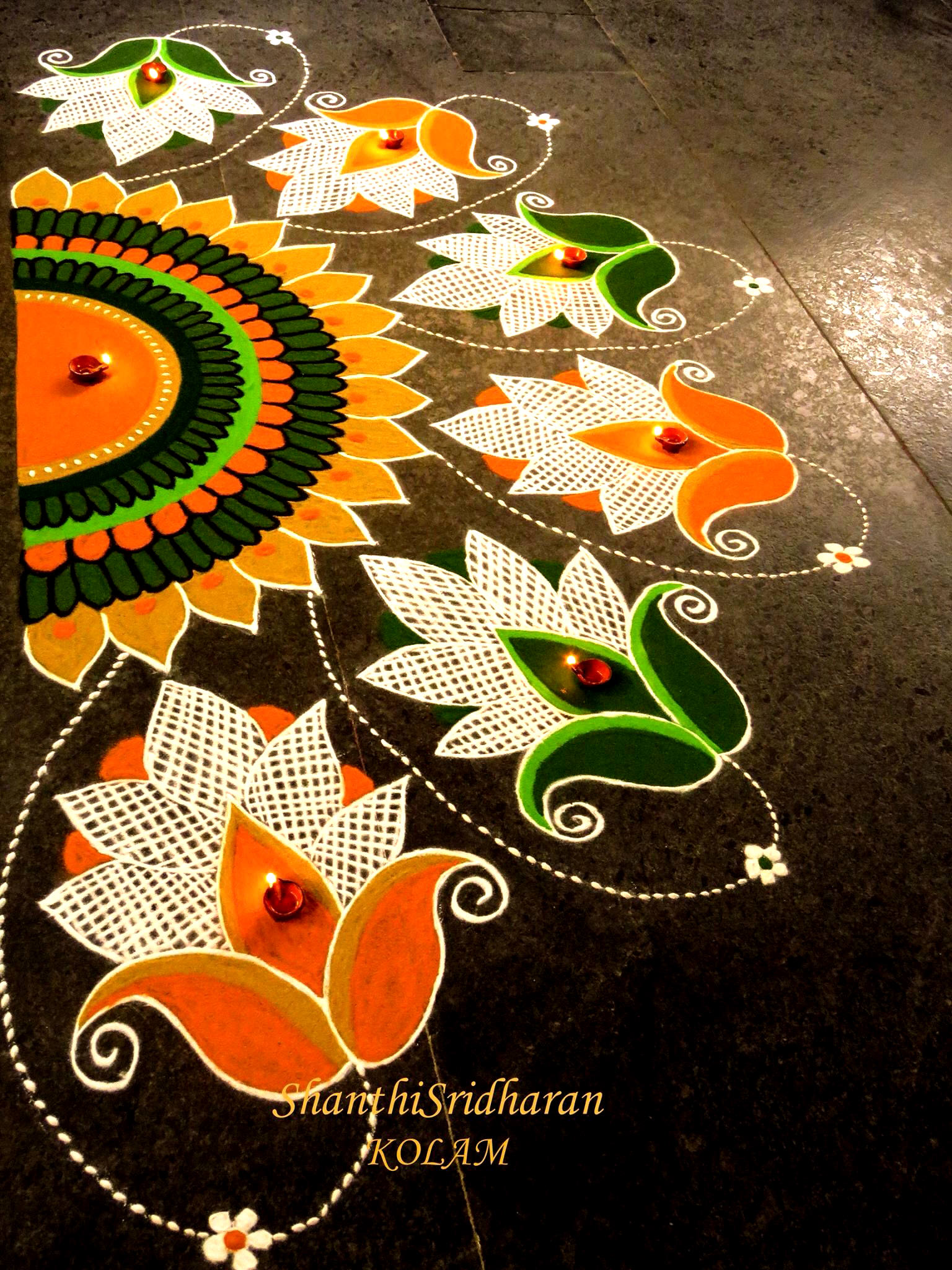 Rangoli Designs in Front of Door