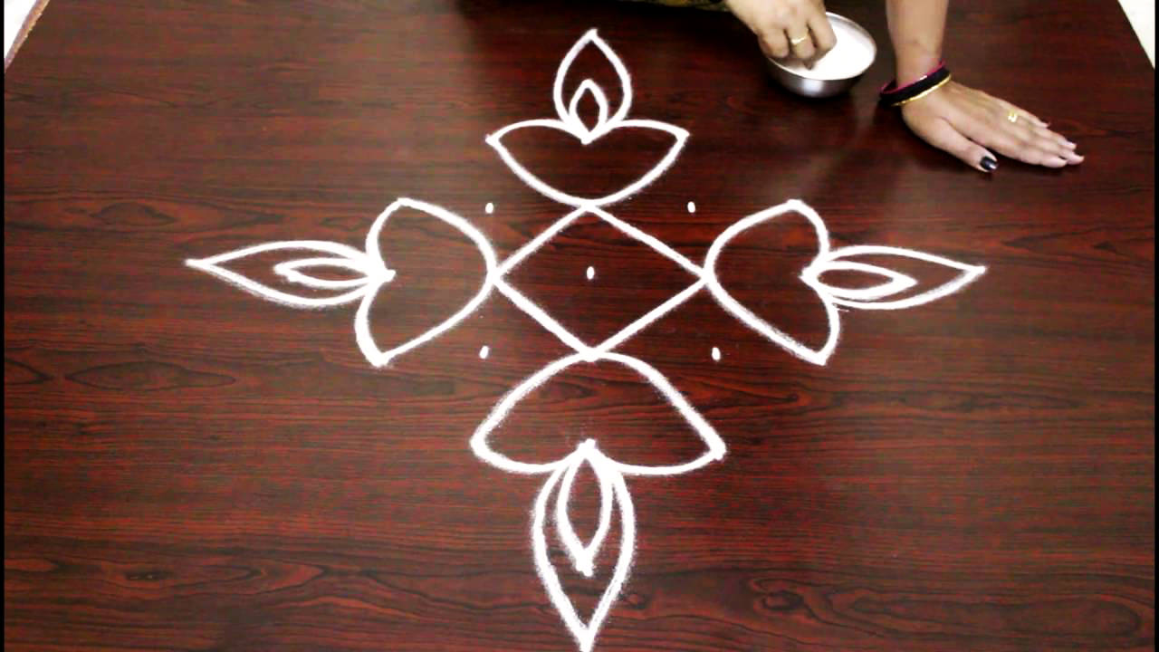 Simple Dot Rangoli Designs for Beginners