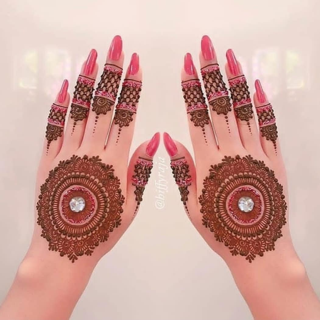 Simple Mehndi Designs For Hands for Bridal