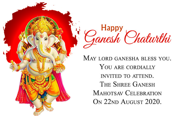 Bday Invitation Card for Ganesh Mahotsav Celebration 2020