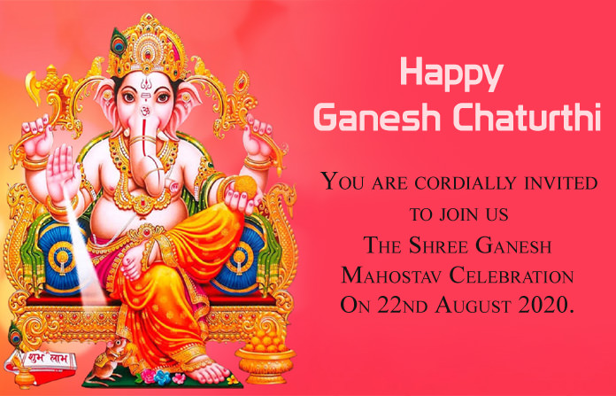 Birthday Invitation Card for Ganesh Chaturthi 2020